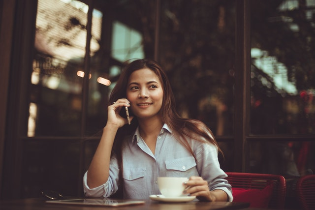 Calling customers to stay in touch